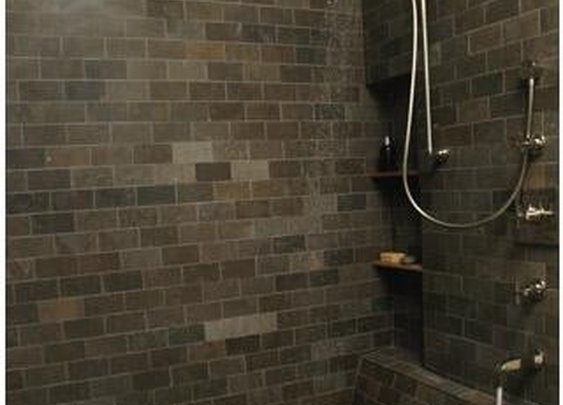 not just a shower...open shower + sunken tub