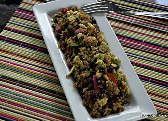 Southwestern Quinoa Salad with Avocado and Black Beans