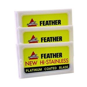 Feather Hi-Stainless Double Edged Razor Blades