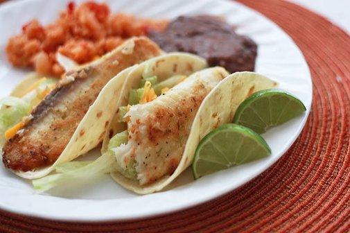 Honey Lime Fish Taco's