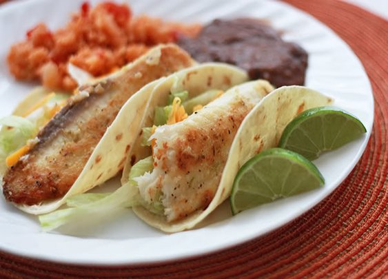 Honey Lime Fish Taco's
