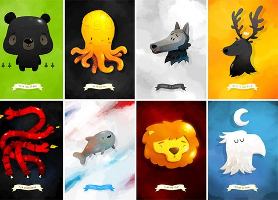 Game of Thrones, rather cute/funny version