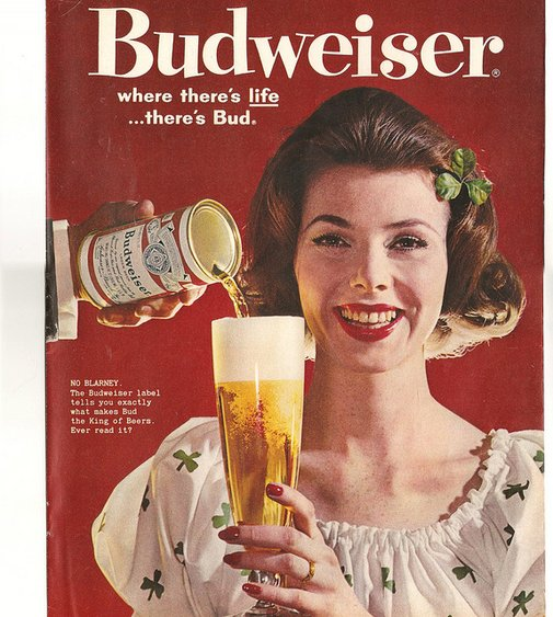 1960 Budweiser Beer ad Look Magazine