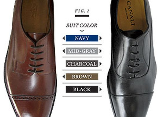 Solving the shoe color/suit color question once and for all