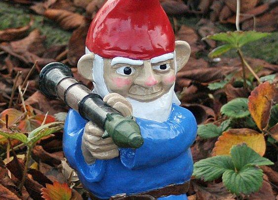 Combat Garden Gnome with Rocket Launcher