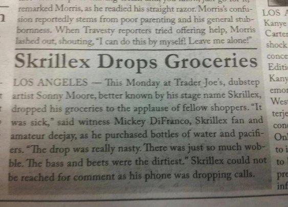 Skrillex Drops Groceries