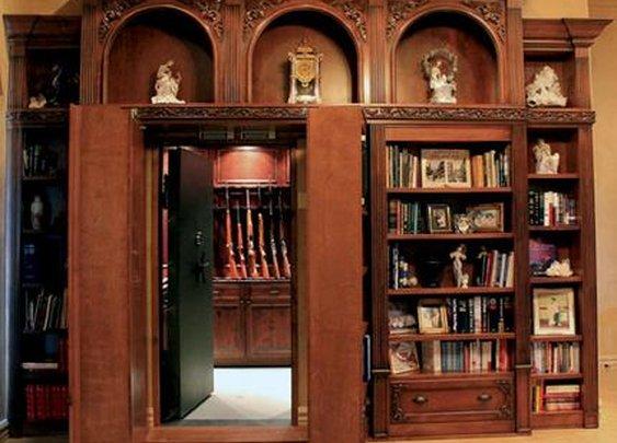 Secret Bookcase Entrance.