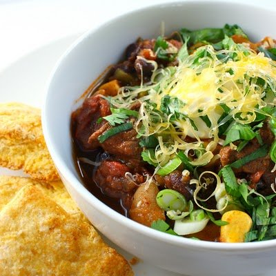 Beef Chili with Poblanos and Beer