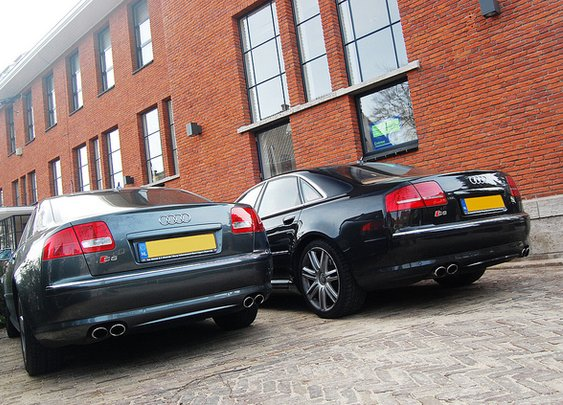 A pair of Audi S8's