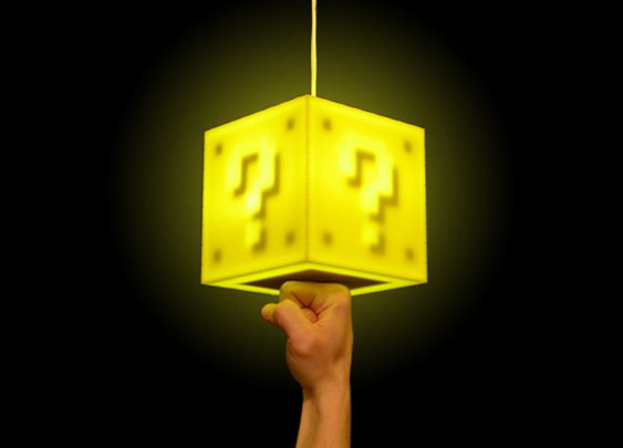 Touch-Sensitive DIY Mario Block Lamp Kit