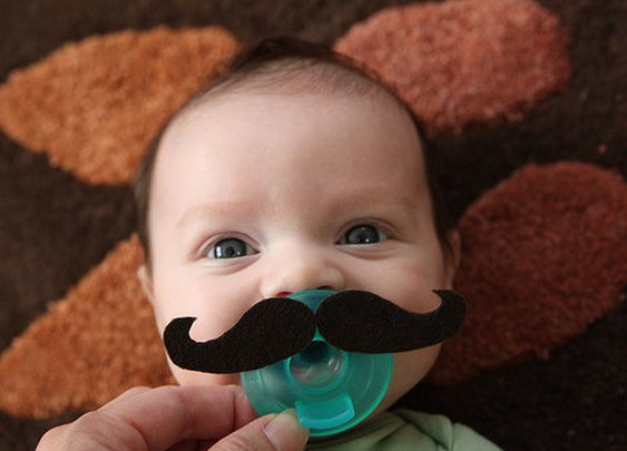Mustache Pacifiers