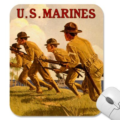 U.S. Marines ~ Soldiers of the Sea ~ Vintage WWI Mouse Pads