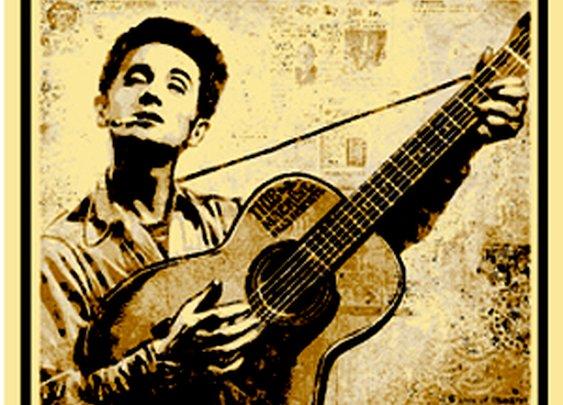 Woody Guthrie 100th Birthday Print by Shepherd Fairy