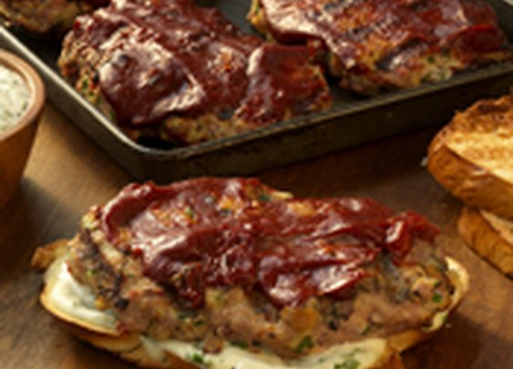 Individual Turkey Meat Loaf Sandwiches