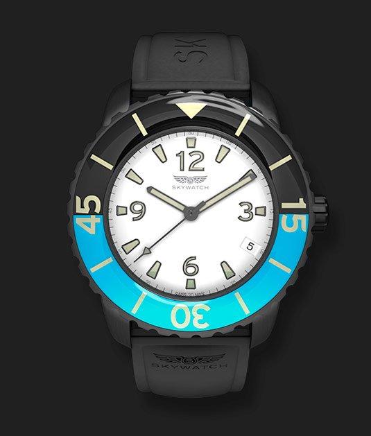 Skywatch Black & Blue 44mm