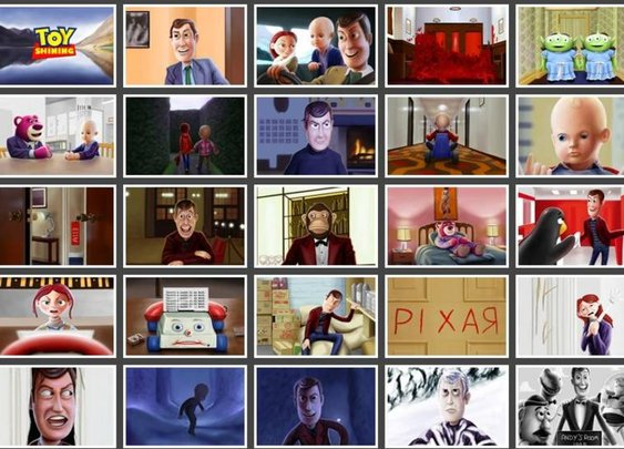 Toy Shining storyboard: Toy Story meets The Shining