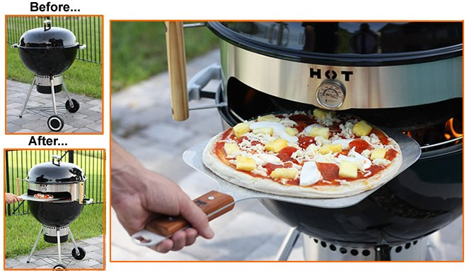 KettlePizza - Turn Your Kettle Grill into an Outdoor Pizza Oven.  USA Made, Patent Pending