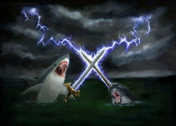 Shark vs. Narwhal in Epic Sword LightningBattle