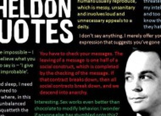 Quote Pictures  » Sheldon quotes