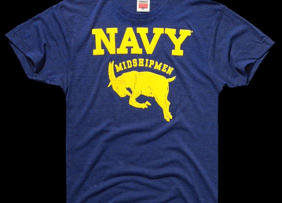 HOMAGE Navy Midshipmen Naval Academy Vintage Mascot T-Shirt - $28.00