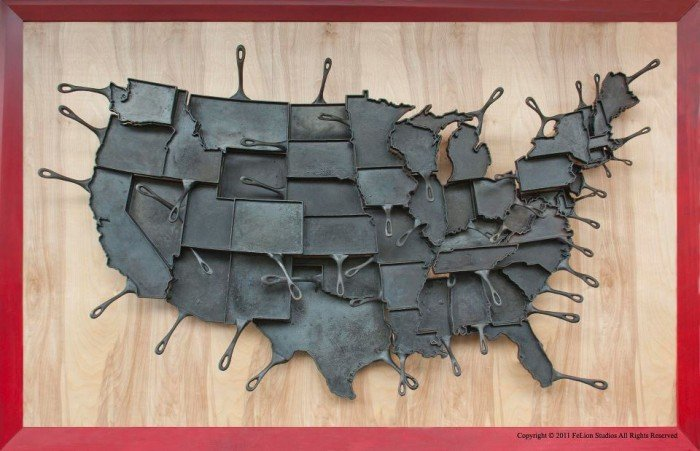 Cast Iron Skillets for each State