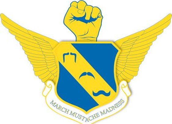 The logo for the Mustache March contest at work!!