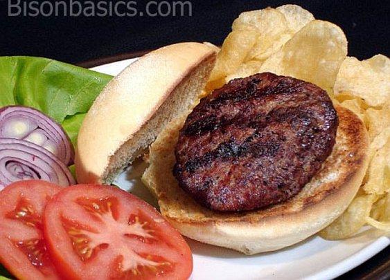 A Basic And Delicious Grilled Bison Burger | Bison Basics