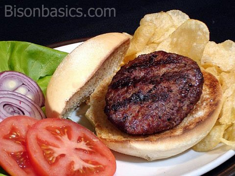 A Basic And Delicious Grilled Bison Burger | Bison Basics