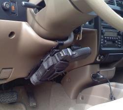 Universal Vehicle Handgun Holster Mount