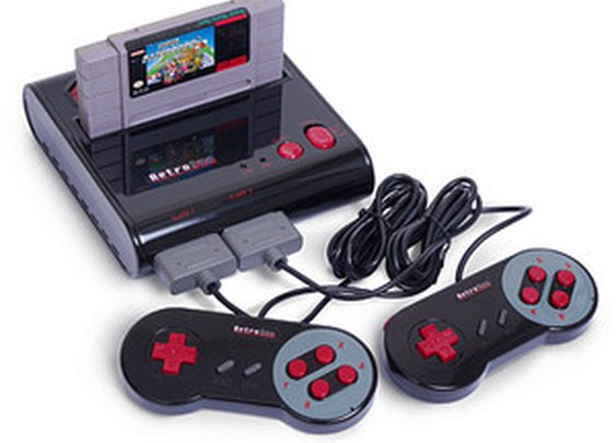 Retro Duo NES/SNES Game System at ThinkGeek.com