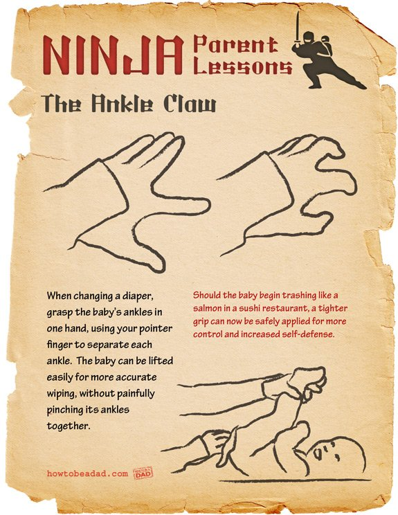 Ninja Parent Lessons: The Ankle Claw