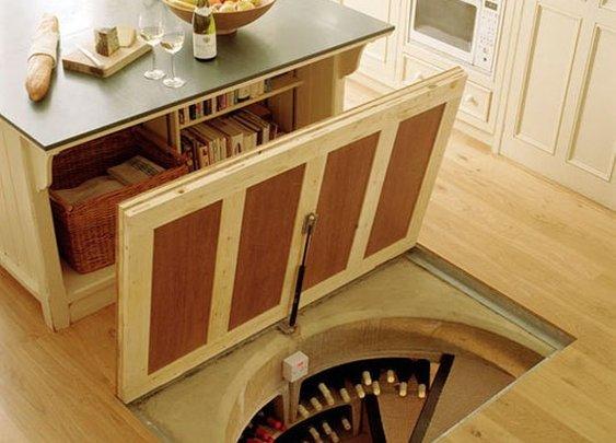 Secret lair-slash-wine cellar.