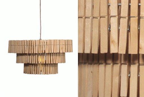 DIY: Clothespin Chandelier