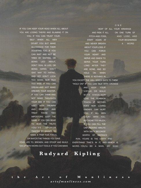 The Art of Manliness - Rudyard Kipling