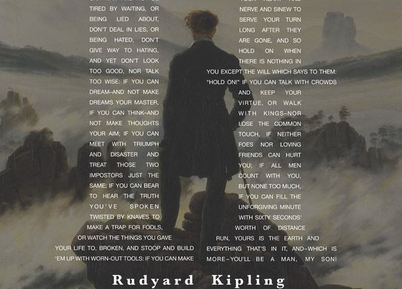 The Art of Manliness - Rudyard Kipling