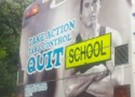School Bus Ad Accidentally Promotes Not Going To School