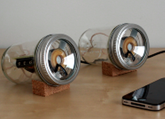 Jar Speakers from Sarah Pease