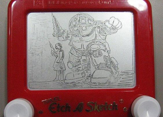 Bioshock On Etch A Sketch