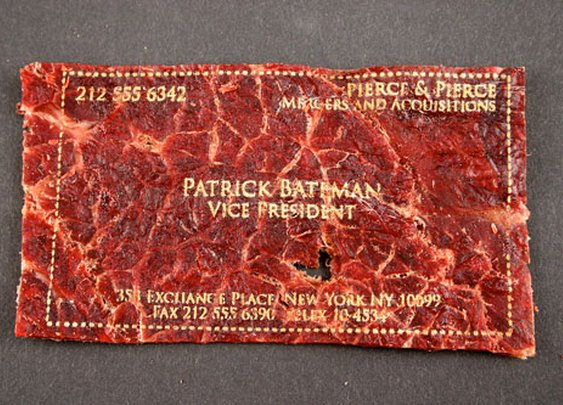 Laser Etched Beef Jerky Business Cards