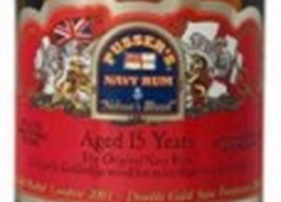 Pusser's 15 Year Old Red Label British Navy Rum 40%, Rum, Various