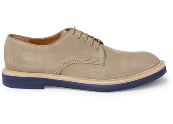 Gucci Contrast-Sole Suede Derby Shoes | MR PORTER ($200-500) - Svpply