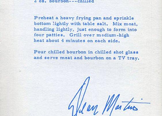 Dean Martin's burger recipe