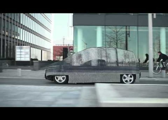 Mercedes-Benz (@MBUSA): 0.0 emissions. That means it's INVISIBLE to the environment. | INVISIBLE car, outstanding ad.