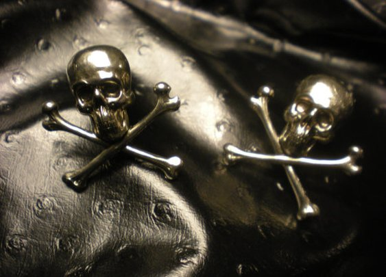 Skull and Cross Bones Cuff Links by LEBEAUTYEXORCIST on Etsy