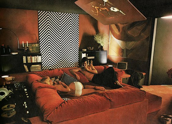 BACK TO THE FUTURE | A RETRO HI FI IN A DARK & COZY MAN CAVE  « The Selvedge Yard