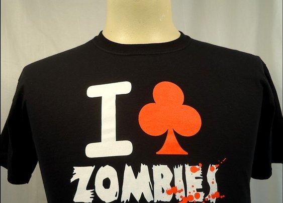 I Club Zombies Men's Shortsleeve tshirt by nwshirts on Etsy