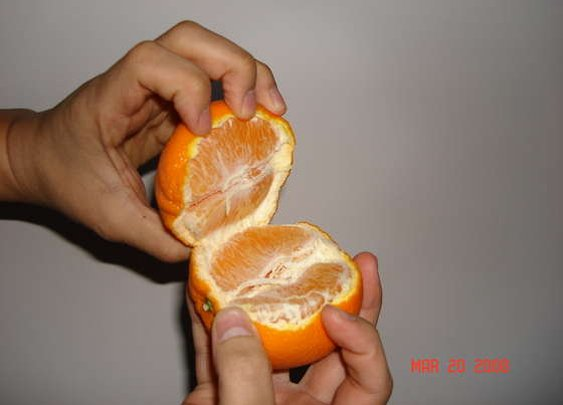 Easiest (cleanest) way to open an Orange