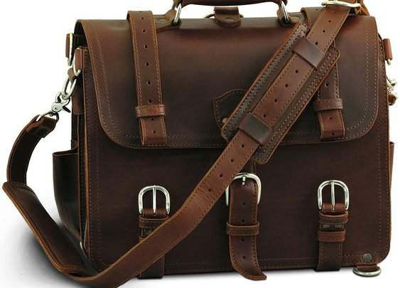 Saddleback Leather Co. Chestnut Leather Briefcase