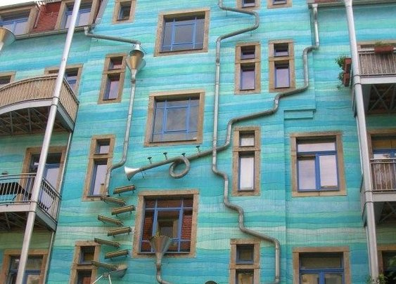 Kunsthofpassage Funnel Wall located in Dresden, Germany | Atlas Obscura | Curious and Wondrous Travel Destinations