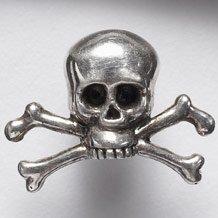 Skull and crossbones lapel pin